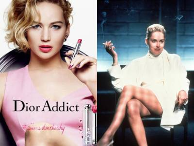 Jennifer Lawrence Shines In Her New Dior Campaign Channeling Sharon Stone!