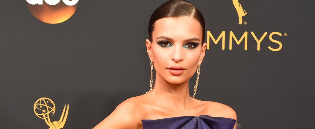 Best in Beauty at the Emmys: Blurred Cerulean Lines on Emily Ratajkowski